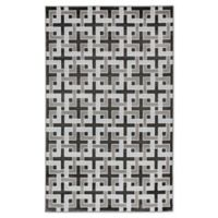 "Liora Manne Deco 7'10"" X 9'10"" Woven Area Rug in Charcoal"