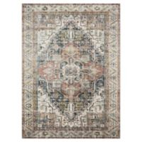 "Loloi Rugs Anastasia 6'7"" X 9'2"" Powerloomed Area Rug in Ivory/multi"