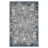 """Liora Manne Shadows 2'1"""" X 2'11"""" Woven Area Rug in Blue"""