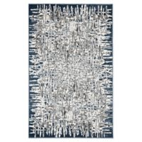 "Liora Manne Shadows 7'10"" X 9'10"" Woven Area Rug in Blue"