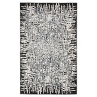 "Liora Manne Shadows 7'10"" X 9'10"" Woven Area Rug in Charcoal"