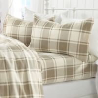 Great Bay Home Plaid Fleece Sheet Set