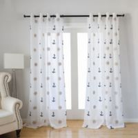 CB Station Seaport 95-Inch Grommet Window Curtain Panel in White