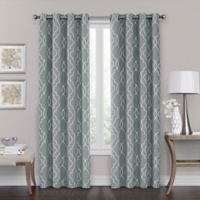 B Grommet 84 Inch 100 Blackout Window Curtain Panel In Silver Blue