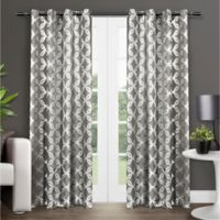 Modo 84-Inch Grommet Top Window Curtain Panel Pair in Black Pearl