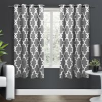 Ironwork Grommet Top Room Darkening Window Curtain Panel Pair