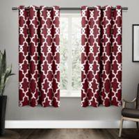 Ironwork Grommet Top Room Darkening Window Curtain Panel Pair