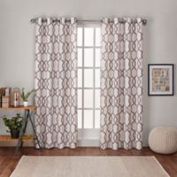 Kochi 108-Inch Grommet Top Room Darkening Window Curtain Panel Pair in Natural