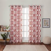 Kochi 84-Inch Grommet Top Room Darkening Window Curtain Panel Pair in Orange