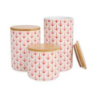 Mind Reader Arrow 3-Piece Canister Set in Red