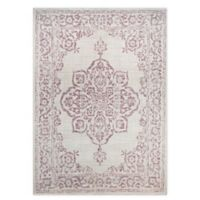 Destination Summer Miami Medallion Indoor/Outdoor 5'3 x 7' Area Rug in Plum