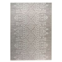 Destination Summer Miami Lace Indoor/Outdoor 5'3 x 7' Area Rug in Linen