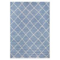 Miami Moroccan 7'10 x 10' Indoor/Outdoor Area Rug in Blue