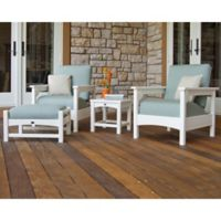 POLYWOOD® Club 4-Piece Deep Seating Set in White/Blue