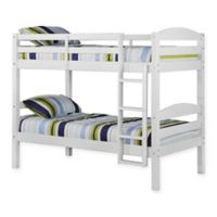 Walker Edison Carolina Twin Bunk Bed in White
