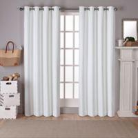Raw Silk Grommet Top Room Darkening Window Curtain Panel Pair