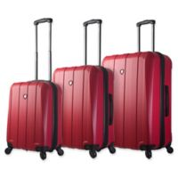 Mia Toro ITALY Tosetti 3-Piece Hardside Spinner Luggage Set in Red