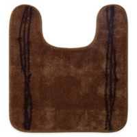 "HiEnd Accents 20.5"" x 24"" Barbwire Contour Bath Rug in Chocolate"