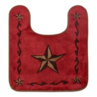 "HiEnd Accents 20.5"" x 24"" Star Countour Bath Rug in Red"