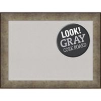 Amanti Art® Large Framed Grey Cork Board in Pewter