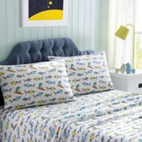 Sharks Full Sheet Set in Grey