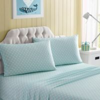 Polka Dot Full Sheet Set in Aqua