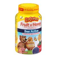 L'il Critters Fruit N' Honey Bee Active Complete Multivitamin in Natural Berry Flavor