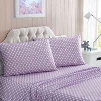 Polka Dot Full Sheet Set in Lilac