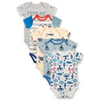 Rosie Pope Baby® Size 3-6M 5-Pack Short Sleeve Nautical Bodysuits
