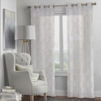 Fremont 4-Pack 108-Inch Grommet Window Curtain Panel Set in White/Linen