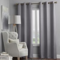 Hartsville Textured 4-Pack 95-Inch Grommet Window Curtain Panel Set in Grey