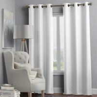 Hartsville Textured 4-Pack 95-Inch Grommet Window Curtain Panel Set in White