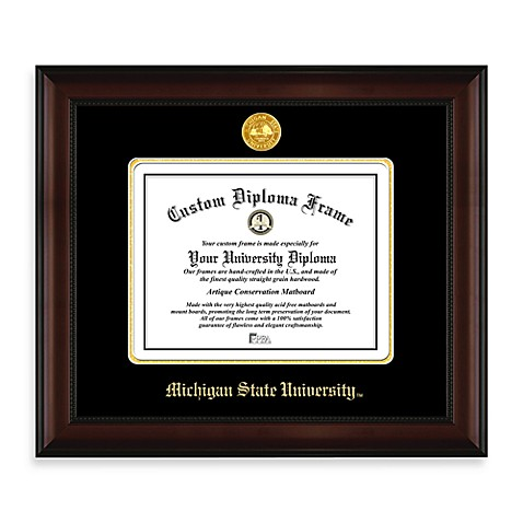 Michigan State Diploma Frame Bed Bath And Beyond