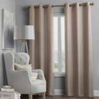 Hartsville Textured 4-Pack 84-Inch Grommet Window Curtain Panel Set in Linen