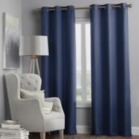 Hartsville Textured 4-Pack 84-Inch Grommet Window Curtain Panel Set in Navy