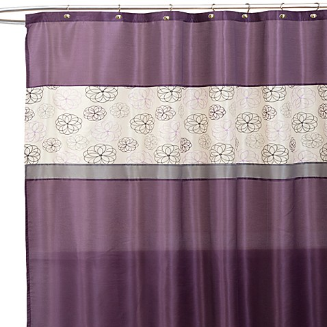 covina purple and ivory 72 inch x 72 inch shower curtain bed bath beyond. Black Bedroom Furniture Sets. Home Design Ideas