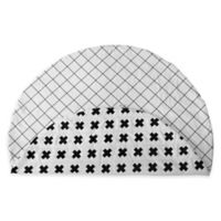 Monochrome Cross & Grid Reversible Play Mat