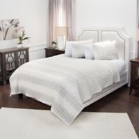 Rizzy Home Seismic Reversible Queen Quilt in White