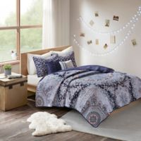 Intelligent Design Odette Twin/Twin XL Coverlet Set in Blue