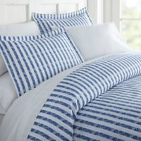 Rugged Stripes 2 Piece Duvet Cover Set in Navy