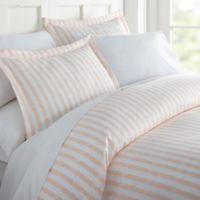 Rugged Stripes 3 Piece Duvet Cover Set in Blush
