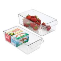 iDesign® Linus Pullz 11.5-Inch x 6-Inch Organizer Box (Set of 2)