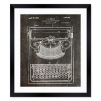 Oliver Gal™ Bar Guide for Typewriters 1926 12-Inch x 14-Inch Framed Wall Art