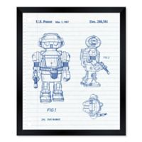 Oliver Gal™ Little Robot Dude 1987 10-Inch x 12-Inch Framed Wall Art