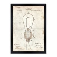 Oliver Gal™ Edison Electric Lamp 1882 12-Inch x 14-Inch Framed Wall Art