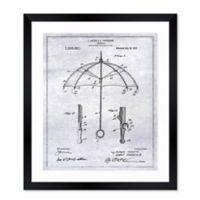 Oliver Gal™ Umbrella 1912 Blueprint 26-Inch x 32-Inch Framed Wall Art