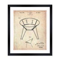 Oliver Gal™ Chair 1952 Blueprint 10-Inch x 12-Inch Framed Wall Art