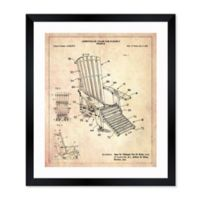 Oliver Gal™ Adirondack Chair 1992 Blueprint 26-Inch x 32-Inch Framed Wall Art