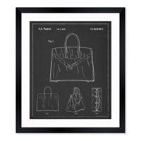 Oliver Gal™ Birkin Handbag 10-Inch x 12-Inch Framed Wall Art in Black