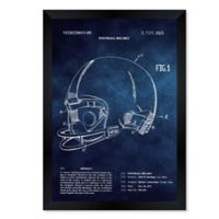 Oliver Gal™ Football Helmet 1973 12-Inch x 14-Inch Framed Wall Art in Blue